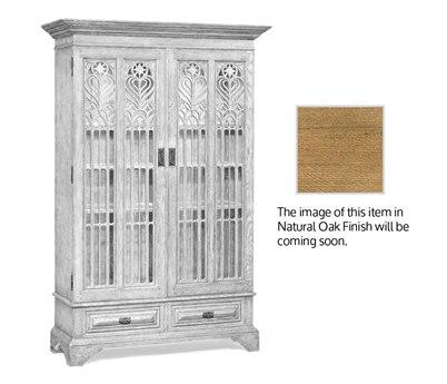 Jonathan Charles Natural Oak Light Natural Oak Display Cabinet