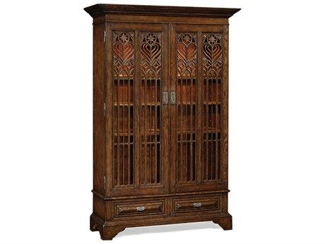 Jonathan Charles Tudor Oak Dark Brown Tudor Oak China Cabinet