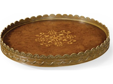 Jonathan Charles La Rochelle Medium Burr Walnut Serving Tray