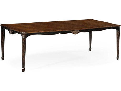 Jonathan Charles Country Farmhouse Painted Honey Black Distressed 92.5 x 48 Rectangular Dining Table