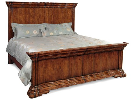 Jonathan Charles Country Farmhouse Dark Walnut King Panel Bed