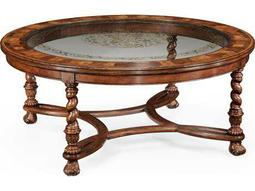 Jonathan Charles Windsor Medium Walnut 48 Round Coffee Table
