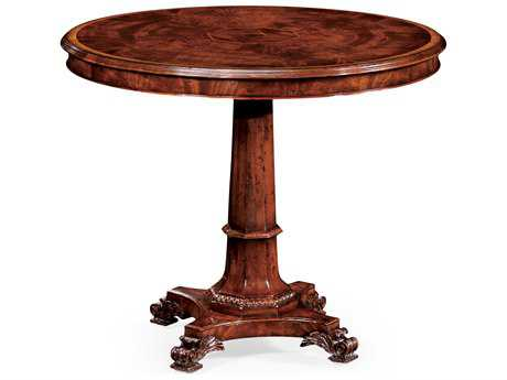 Jonathan Charles Buckingham Medium Antique Mahogany 36 Octagon Pedestal Table