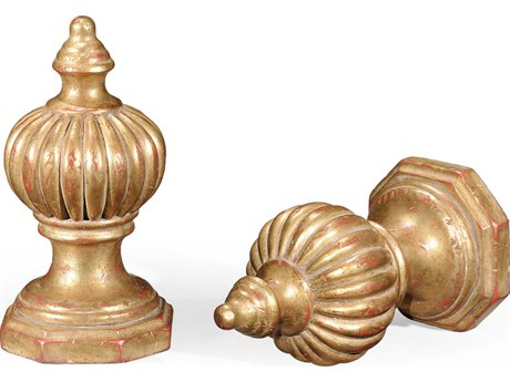 Jonathan Charles Versailles Light Antique Gold-Leaf With Rub-Through Decorate Accent