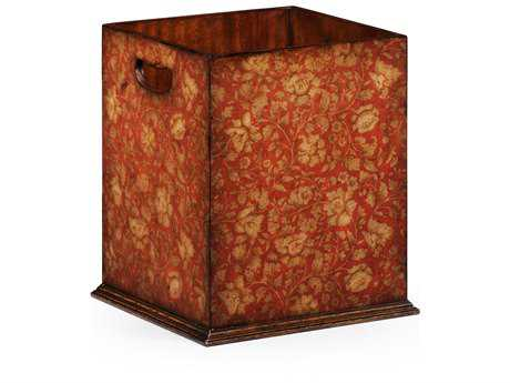Jonathan Charles Hampton Painted Red Floral Waste Bin