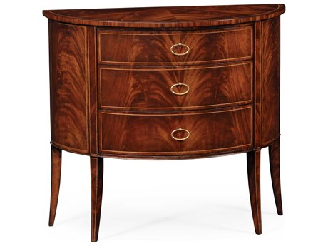 Jonathan Charles Luxe Light Antique Mahogany Console Chest