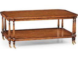 Jonathan Charles Windsor Medium Walnut 50 x 32 Rectangular Coffee Table