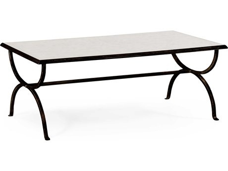 Jonathan Charles Luxe Antique Bronze Finish On Metal 52 x 30 Rectangular Coffee Table
