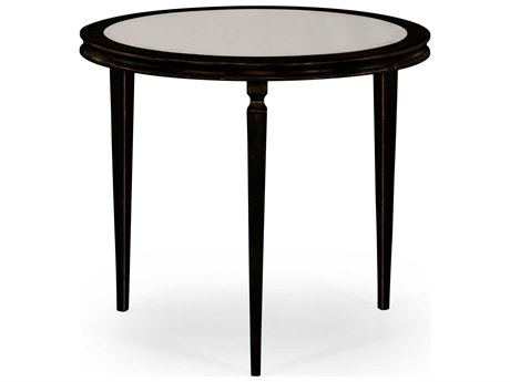 Jonathan Charles Luxe Antique Bronze Finish On Metal 34 Round Foyer Table