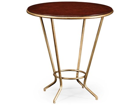 Jonathan Charles Luxe Gilded Iron 24 Round End Table