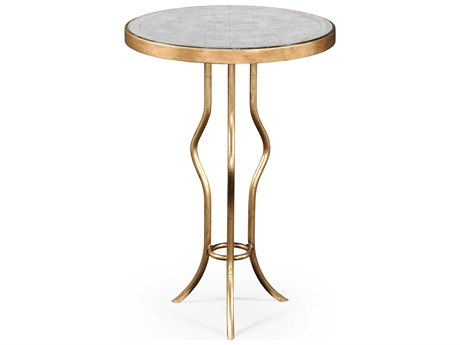 Jonathan Charles Luxe Gilded Iron 18 Round Bar Table