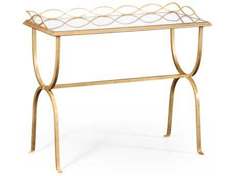 Jonathan Charles Luxe Gilded Iron 42 x 18 Rectangular Bar Table