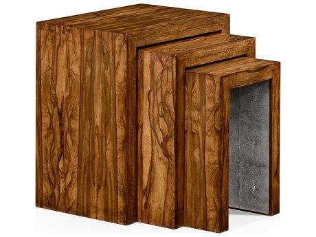 Jonathan Charles Moroccan Light Argentinean Walnut 24 x 16 Rectangular Nesting Table