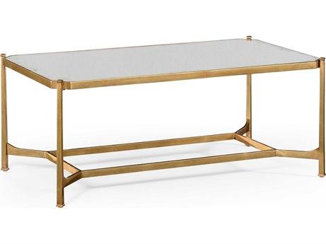 Jonathan Charles Luxe Gilded Iron 48 x 28 Rectangular Coffee Table