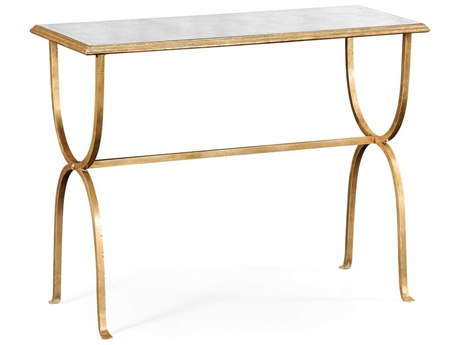Jonathan Charles Luxe Gilded Iron 41.75 x 16.75 Rectangular Console Table
