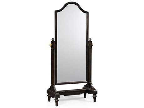 Jonathan Charles Country Farmhouse 36 x 76 Ebonized Floor Mirror