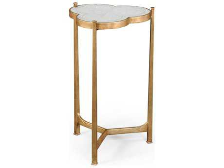 Jonathan Charles Luxe Gilded Iron 16 x 15.5 trefoil End Table