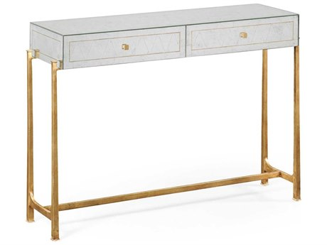 Jonathan Charles Luxe Gilded Iron 48 x 13.75 Rectangular Console Table
