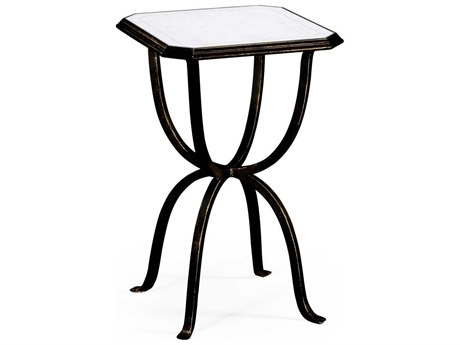 Jonathan Charles Luxe Antique Bronze Finish On Metal 16 Square End Table