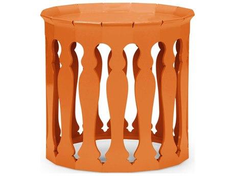Jonathan Charles Moroccan Pumpkin Cream 24.75 Round Drum Table