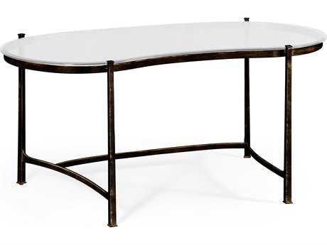 Jonathan Charles Luxe Antique Bronze Finish On Metal Conference Desk