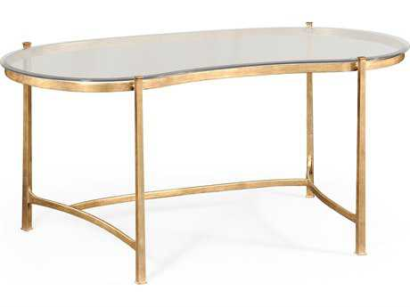 Jonathan Charles Luxe Gilded Iron Conference Desk