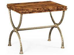 Jonathan Charles Windsor Antique Bronze Finish On Metal 30.5 x 22.5 Rectangular End Table