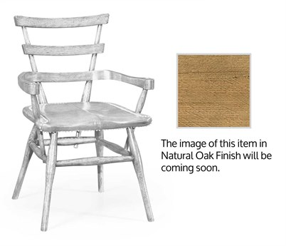 Jonathan Charles Natural Oak Anthracite Shagreen Accent Chair