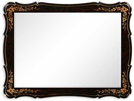 Jonathan Charles Kensington 48 x 36 Antique Silver-Leaf With Carved Floral Detail Wall Mirror