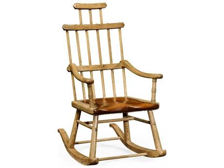 Jonathan Charles Natural Oak Painted Grey Weathered Rocker Chair