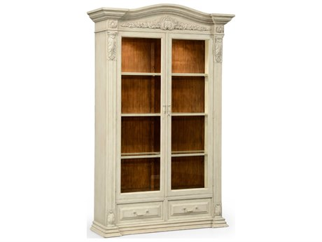 Jonathan Charles Country Farmhouse Limed Tulip Wood With Carved Floral Detail Console Cabinet