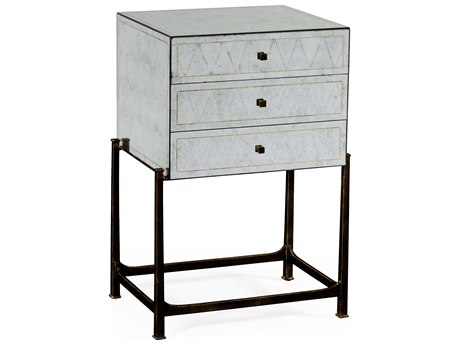 Jonathan Charles Luxe Antique Bronze Finish On Metal Accent Cabinet