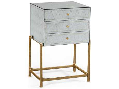 Jonathan Charles Luxe Gilded Iron Chest of Drawers Nightstand
