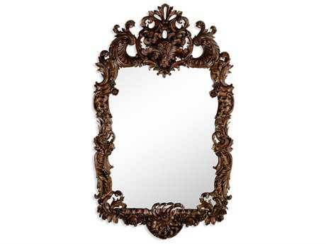 Jonathan Charles Windsor 33 x 56 Medium Walnut Wall Mirror