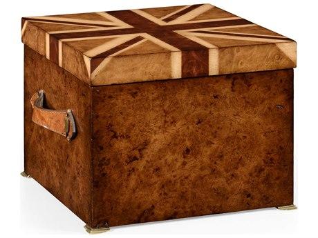 Jonathan Charles Union Jack Medium Burr Walnut Decorate Accent