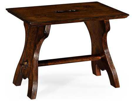 Jonathan Charles Tudor Oak Dark Brown Tudor Oak Accent Stool
