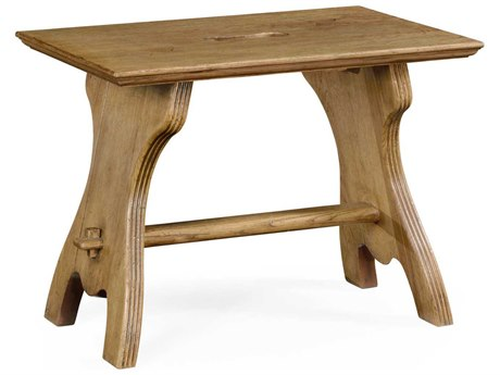 Jonathan Charles Natural Oak Natural Light Oak On Veneer Accent Stool