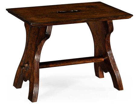 Jonathan Charles Tudor Oak Dark Brown Tudor Oak Accent Stool