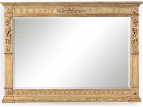 Jonathan Charles Versailles 48 x 34 Light Antique Gold-Leaf With Carved Floral Detail Wall Mirror