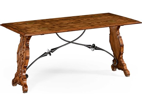 Jonathan Charles Country Farmhouse Medium Argentinean Walnut 62 x 16 Rectangular Dining Table