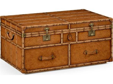 Jonathan Charles Voyager Medium Antique Chestnut Leather 43 x 28.5 Rectangular Game Table