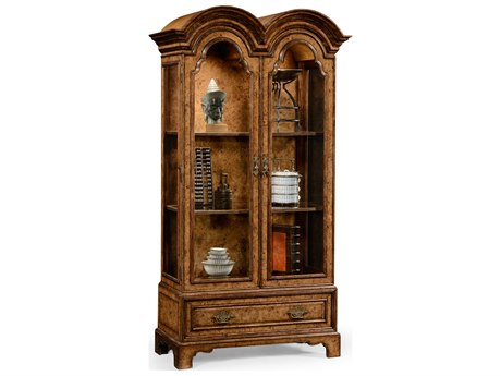 Jonathan Charles Nottinghamshire Light Rustic Burr Oak China Cabinet