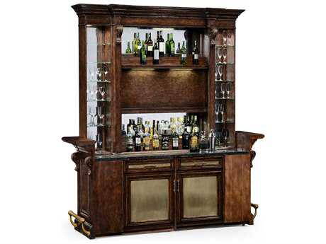 Jonathan Charles Tudor Oak Dark Brown Tudor Oak Home Bar