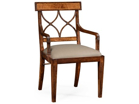 Jonathan Charles Windsor Medium Crotch Walnut Dining Chair