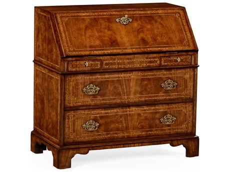 Jonathan Charles Windsor Medium Crotch Walnut Marquetry Console Cabinet