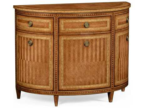 Jonathan Charles Versailles Light Satinwood Console Cabinet