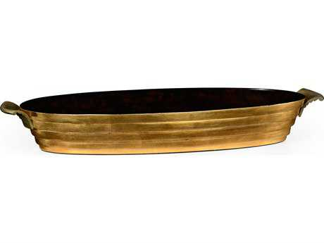 Jonathan Charles Luxe Light Antique Gold-Leaf Serving Tray