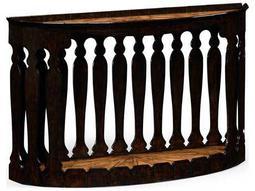 Jonathan Charles Moroccan Ebonized 56 x 14.5 Demilune Console Table