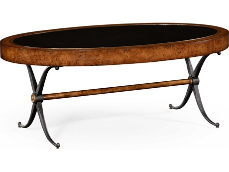 Jonathan Charles Anvil Medium Rustic Burr Oak 52 x 30 Oval Coffee Table