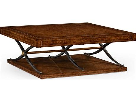 Jonathan Charles Anvil Medium Rustic Burr Oak 54 Rectangular Coffee Table